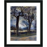 Studio Works Modern ''Country Lane'' by Mia Singer Framed Fine Art Giclee Photographic Print; Black