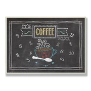 Stupell Industries It's Coffee O'clock Chalkboard-Look Wall Plaque