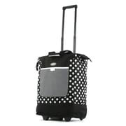 Olympia Polka Dot Rolling Shopping Tote; Black
