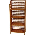Oriental Furniture 43'' Natural Fiber Shelving Unit in Honey