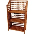 Oriental Furniture 33'' Natural Fiber Shelving Unit in Honey