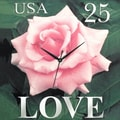 PS Collection Love Rose 20'' Wall Clock