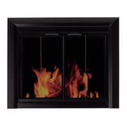 Pleasant Hearth Clairmont Fireplace Screen and Bi-Fold Track-Free Smoked Glass Door; Large