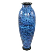PoliVaz Mosaic Ocean Round Floor Vase