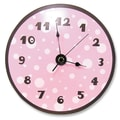 Trend Lab 11'' Polka Dots Wall Clock; Pink and Brown