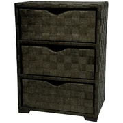 Oriental Furniture 3 Drawer Chest I; Black