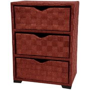 Oriental Furniture 3 Drawer Chest I; Mahogany