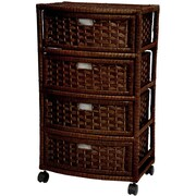 Oriental Furniture 4 Drawer Chest; Mocha
