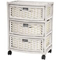 Oriental Furniture Chest of 3 Drawer; White
