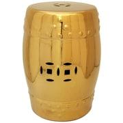 Oriental Furniture Garden Stool; Solid Gold