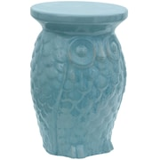 Oriental Furniture Carved Owl Porcelain Garden Stool