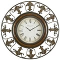 UMA Enterprises Toscana Oversized 38'' Flower Wall Clock