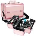 Seya Professional Cosmetic Train Case; Pink