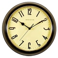 Ashton Sutton Retrospective 10'' Wall Clock; Black