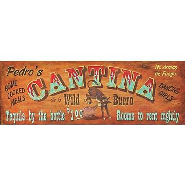 Vintage Signs Cantina Vintage Advertisement Plaque