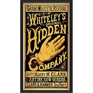 The Artwork Factory Original Hidden Hand Company II Framed Vintage Advertisement