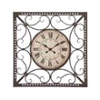 Woodland Imports Metal Roman Quartz Wall Clock