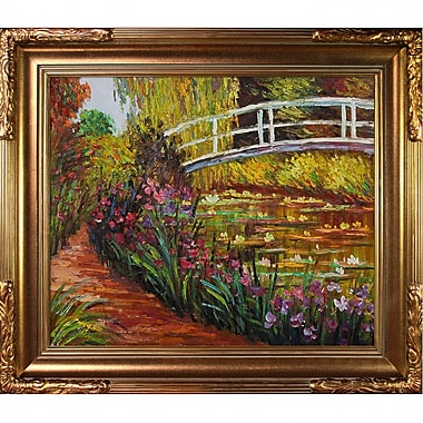 Tori Home The Japanese Bridge by Claude Monet Framed Painting Print