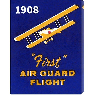 Global Gallery '1908 First Air Guard Flight' by Retro Travel Vintage Advertisement on Wrapped Canvas