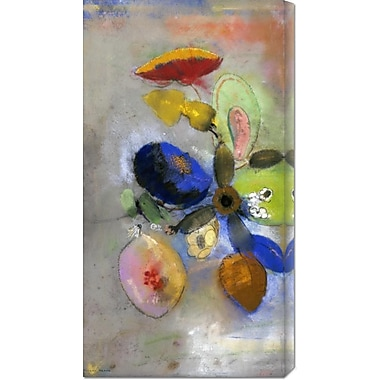 Global Gallery 'Flowers' by Odilon Redon Painting Print on Wrapped Canvas