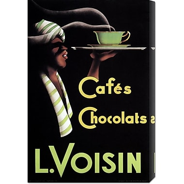 Global Gallery 'Cafes Chocolats L. Voisin' by Retrolabel Vintage Advertisement on Wrapped Canvas