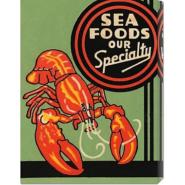 Global Gallery 'Sea Foods Our Specialty' by Retrolabel Vintage Advertisement on Wrapped Canvas