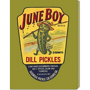 Global Gallery 'June Boy Dill Pickles' by Retrolabel Vintage Advertisement on Wrapped Canvas