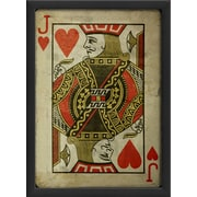 The Artwork Factory Jack of Hearts Framed Graphic Art