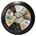Ashton Sutton Decorative Home 18'' Wheel Wall Clock