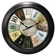 Ashton Sutton Decorative Home 18'' Wheel Wall Clock