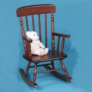 Gift Mark New Style Spindle Kids Rocking Chair; Cherry