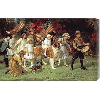 Global Gallery 'American Parade' by George Sheridan Knowles Painting Print on Wrapped Canvas