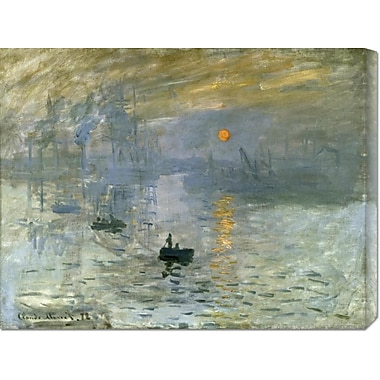 Global Gallery 'Impression: Sunrise' by Claude Monet Painting Print on Wrapped Canvas