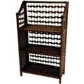 Oriental Furniture 33'' Natural Fiber Shelving Unit in Mocha