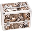 Sunrise Cases Professional Cosmetic Makeup Case; Brown Leopard