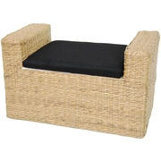 Oriental Furniture Rush Grass Storage Bench; Natural