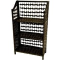 Oriental Furniture 33'' Natural Fiber Shelving Unit in Black