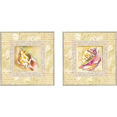 PTM Images Bath Antiqua Conch 2 Piece Framed Graphic Art Set