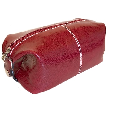 Floto Imports Venezia Leather Toiletry Bag; Tuscan Red