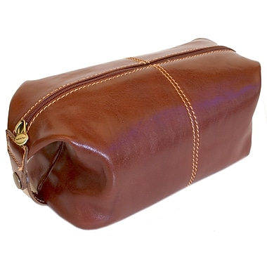 Floto Imports Venezia Leather Toiletry Bag; Vecchio Brown