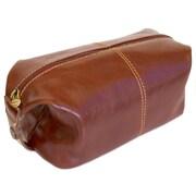 Floto Imports Venezia Leather Toiletry Bag; Vecchio Brown