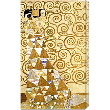 Global Gallery 'Expectation' by Gustav Klimt Painting Print on Wrapped Canvas
