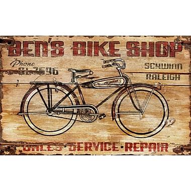 Vintage Signs Bens Bike Vintage Advertisement Plaque