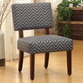 Kinfine Side Chair; Gray / Glacier Blue