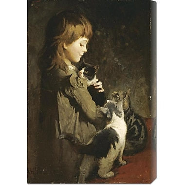 Global Gallery 'The Favorite Kitten' by Abbott Handerson Thayer Painting Print on Wrapped Canvas