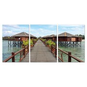 BZB Goods Long Vacation Modern 3 Piece Photographic Print