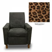Dozy Dotes Modern Kid's Recliner; Fabric - Leopard