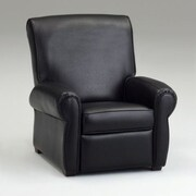 Dozy Dotes Big Kid's Recliner; Faux Leather - Black