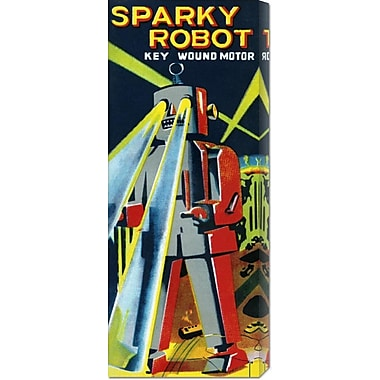 Global Gallery 'Sparky Robot' by Retrobot Vintage Advertisement on Wrapped Canvas