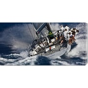 Global Gallery 'Maxi Yacht Sailing' by Carlo Borlenghi Photographic Print on Wrapped Canvas